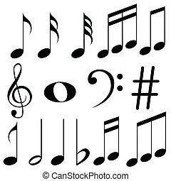 notes, musique