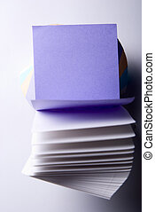 notes, papier, propre, open-purple, feuilles, bloc