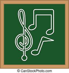 notes, symbole musique