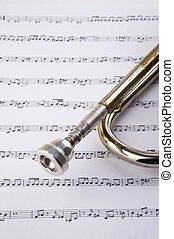 notes, trompette