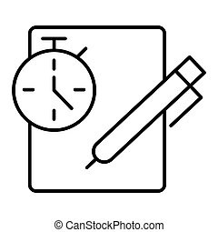 Notes with stopwatch. Clipboard with check list, to do list, complete tasks, survey, checklist. Time management concept. Feedback business concept. Timing concept