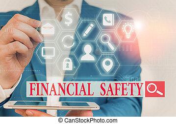 notfälle, ausstellung, decke, text, safety., genug, foto, goals., finanziell, geld, gespeichert, zeichen, begrifflich