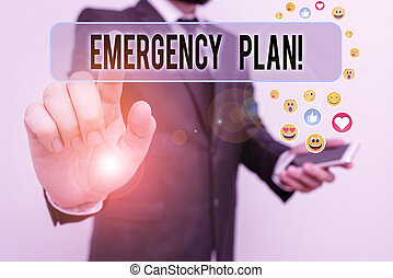 notfall, begriff, potential, plan., events., text, schaden, handschrift, bedeutung, entwickelt, mitigate, handlungen