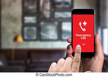 notfall, medizin, dringend, service, rufen, hotline, zentrieren, zufällig