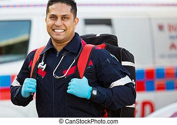 notfall, medizinischer dienst, personal, tragen, emquipment
