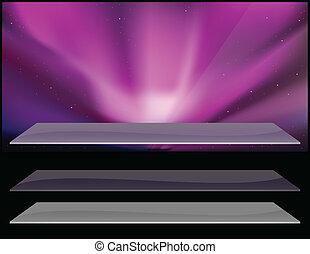 Nothern aurora design. - Vector illustration of polaris...
