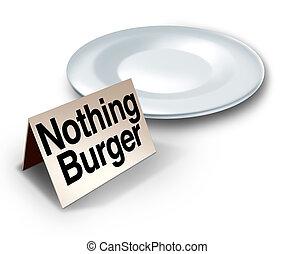 Nothing Burger Concept - Nothing burger or nothingburger ...