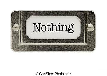 Nothing File Drawer Label