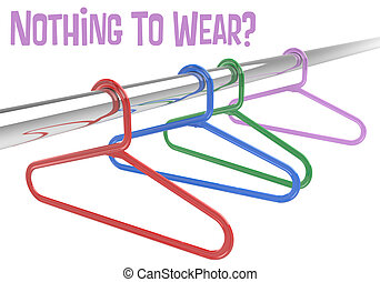 Nothing to wear Hangers empty clothes closet - Nothing to ...