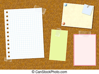 Notice board - Decorative background with notice board