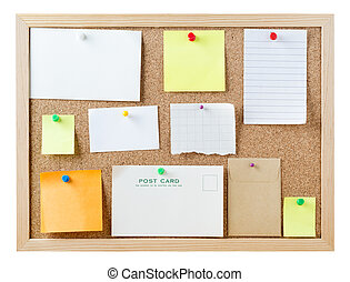 Notice Board with Blank Messages