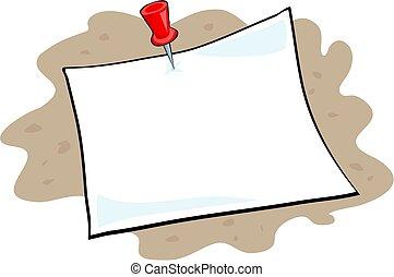 Notice - note paper