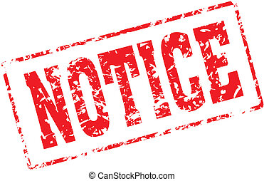 notice - Grungy ink stamp, vector format very easy to edit