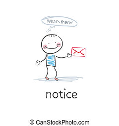 Notice . Illustration