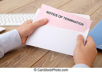 Notice of job termination