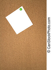 Noticeboard with single blank note