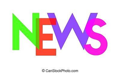noticias, carta, colorido, transparant