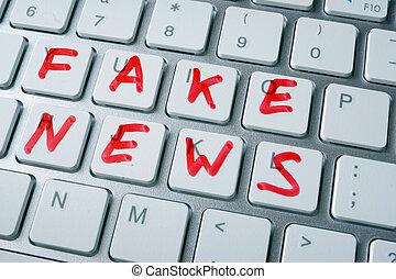 noticias, concept., falsificación