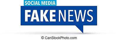noticias, icono, falsificación