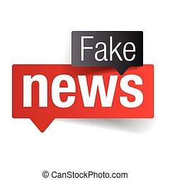 noticias, señal, burbuja del discurso, falsificación