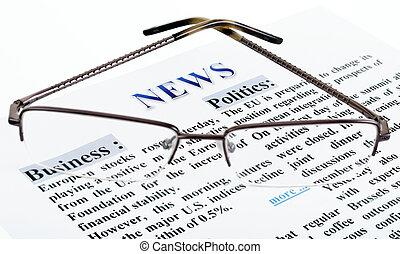 noticias, texto