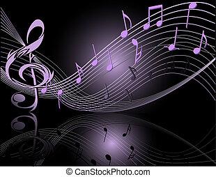 noticky, hudba