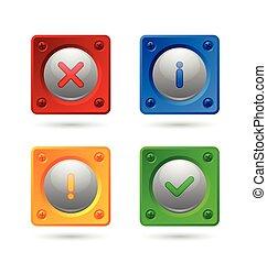 notificação, ícones