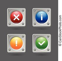 notificación, iconos