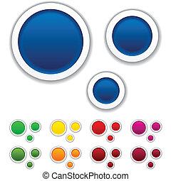 Vector illustration of blank notice bubbles.