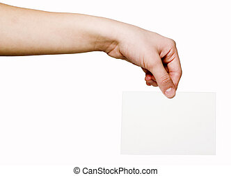 notification card in the hand