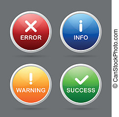 Notification icons suitable for custom web design and ...