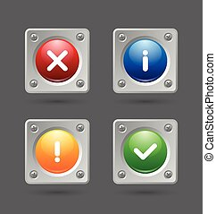 Notification icons suitable for custom web design and...