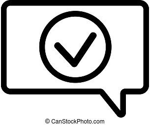 Notification of the vector icon. Isolated contour symbol illustration
