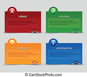 Notification windows suitable for custom web design and...