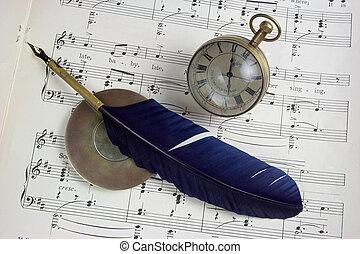 notizen, musik, zeit