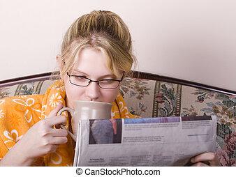 notizie, caffè, mattina