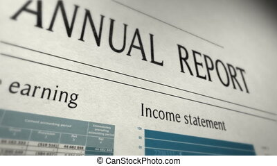 notizie finanziarie, cocnept, con, animare