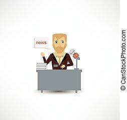 notizie, giornalista, dice