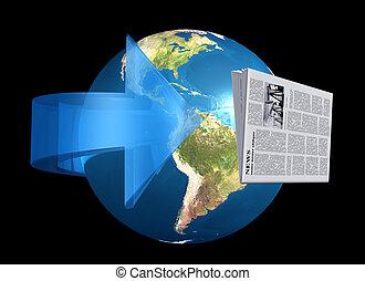 notizie, intorno, mondo