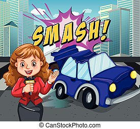 notizie, segnalazione, reporter, incidente automobile