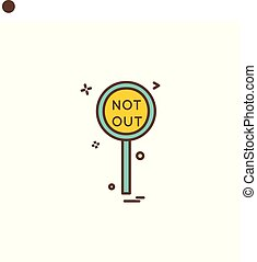 notout decision umpire icon vector design
