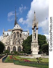 notre の 貴婦人, パリ, 大聖堂, フランス
