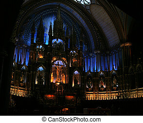 The main Altar within Notre Dame, Montreal
