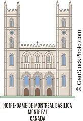 Notre-Dame Basilica, Old Montreal, Quebec, Canada