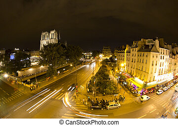 notre dame cathedral, paris - notre dame and surrounding...