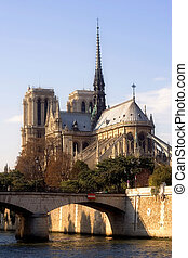 Notre-Dame cathedral - Back view of Notre-Dame cathedral...
