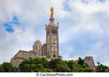 Notre Dame de la Garde, Marseille, France. - Notre Dame de...