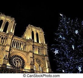Notre-Dame de Paris at Christmas