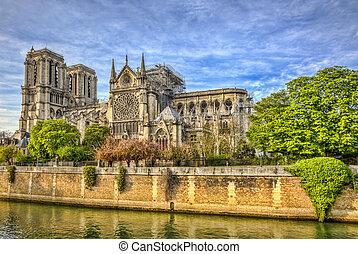 Notre Dame de Paris Cathedral After The Fire on 15 April 2019