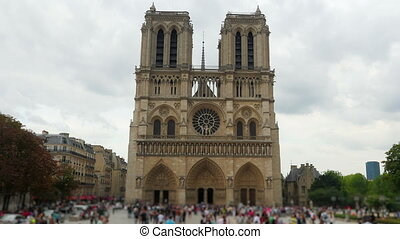 """notre dame de paris cathedral, france, timelapse, 4k"""